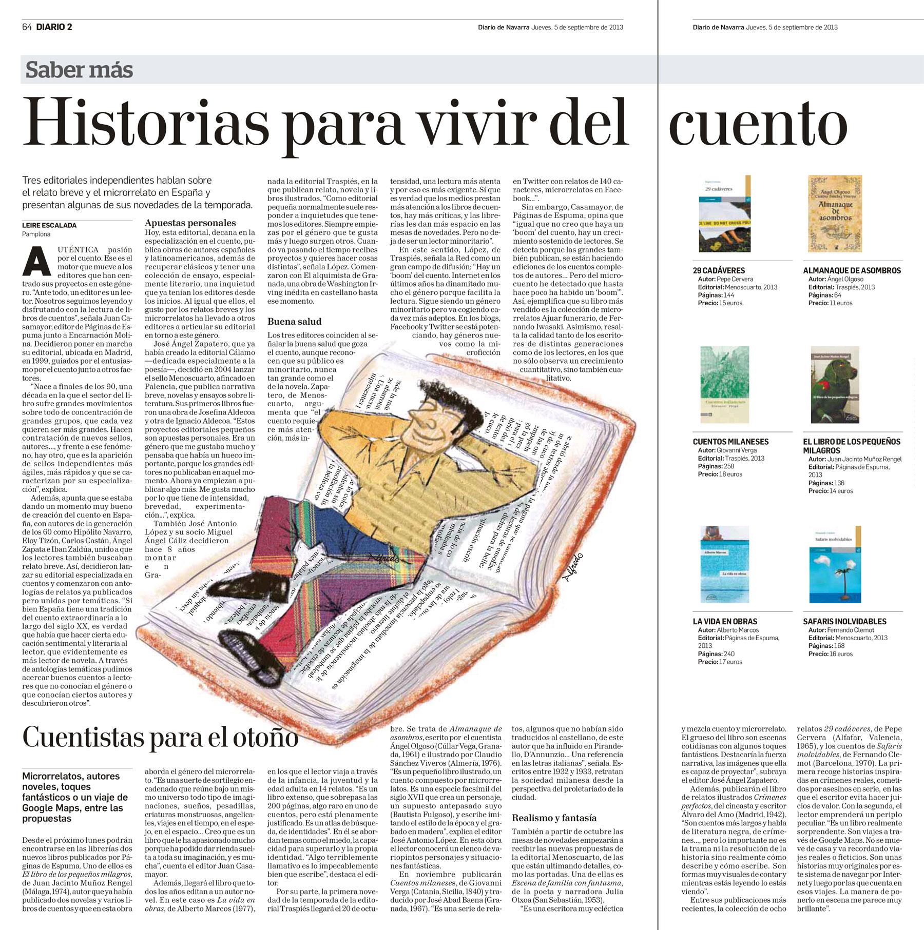 Nuestras novedades en Diario de Navarra - Editorial Páginas de Espuma